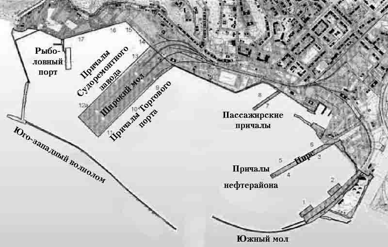 Схема Туапсинского порта