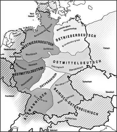 диалектов немецкого языка
