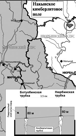 Карта из газеты «Наше время»